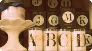 Monogramed candles